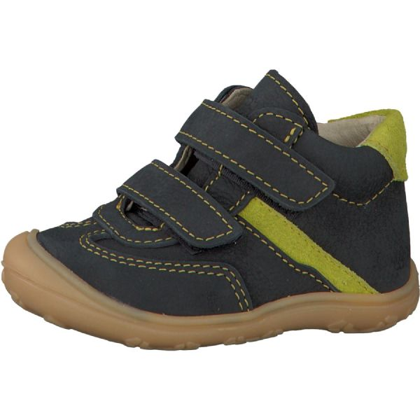 Ricosta KEDI Leather Velcro Boot (Olive/Lime)